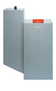 VIESSMANN VITOLIGNO 300-P 16-48 caldera de pie de pellets de 16-48 KW, solo calefacción, encendido automático, para funcionamiento con sistema neumático