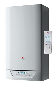 SAUNIER-DUVAL ISOFAST 21 CONDENS F 35 de 32,0-34,8 KW (calefacción y acs) acumulación dinamica Isodyn 2 ,incluye control  termostato programador modulante EXACONTROL E7 R, placa de conexiones y ventosa.