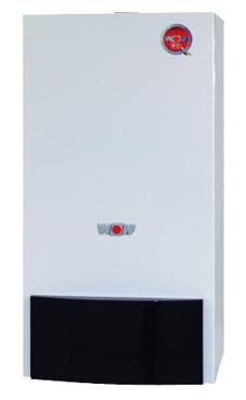WOLF CGG-1K 28  de 28 KW, con conexiones hidráulica y salida de humos horizontal